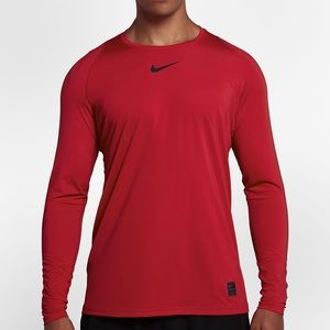 Nike Pro NWT Compression Long Sleeve Red